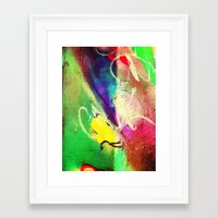 graffiti Framed Art Prints featuring Graffiti  by Shannon Curtis