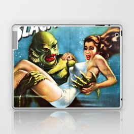 Creature from the Black Lagoon, vintage horror movie poster Laptop & iPad Skin