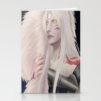 inuyasha Stationery Cards featuring Sesshomaru by StrawberryLuv32
