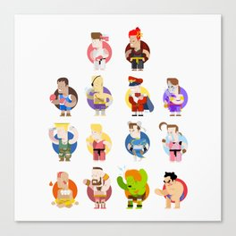 Street fighter characters Canvas Print