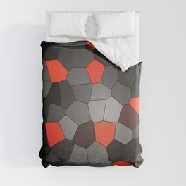red and black mosaic Duvet Cover