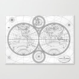 Global map Canvas Print