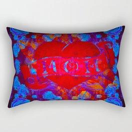 Mom Tattoo Retro Glowing Floral Print Rectangular Pillow