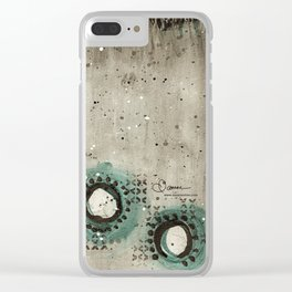 Sepia Circles Low Clear iPhone Case