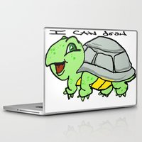 childish gambino Laptop & iPad Skins featuring childish turtle  by Martin