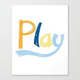 Play Nursery Art Canvas Print