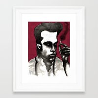 nick cave Framed Art Prints featuring Nick Cave by Rafols