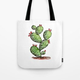 Psalm 63 watercoulor cactus bible verse Tote Bag