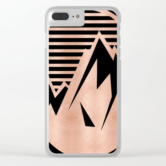 THE MOUNTAIN Rose Gold Clear iPhone Case