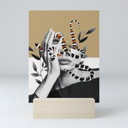 Woman and snakes Mini Art Print