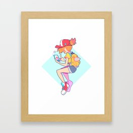 PKMN GO - Misty Framed Art Print