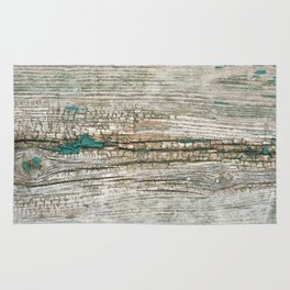 Rustic Wood Ages Gracefully - Beautiful Weathered Wooden Plank - knotty wood weathered turquoise pa Rug