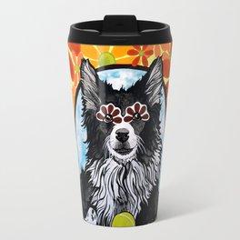 Gizmo the Border Collie Travel Mug