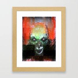 Halloween Mask Framed Art Print