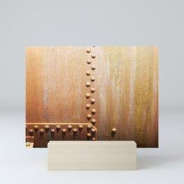 Rivets on steel plates Mini Art Print