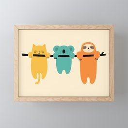 Hang In There Framed Mini Art Print