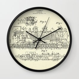 Locomotive-1915 Wall Clock