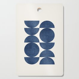 Blue navy retro scandinavian Mid century modern Cutting Board