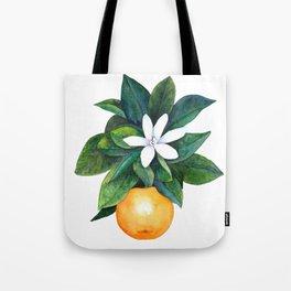 Citrus Flower Tote Bag