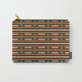 Colorful hand drawn horizontal stripes pattern. Carry-All Pouch