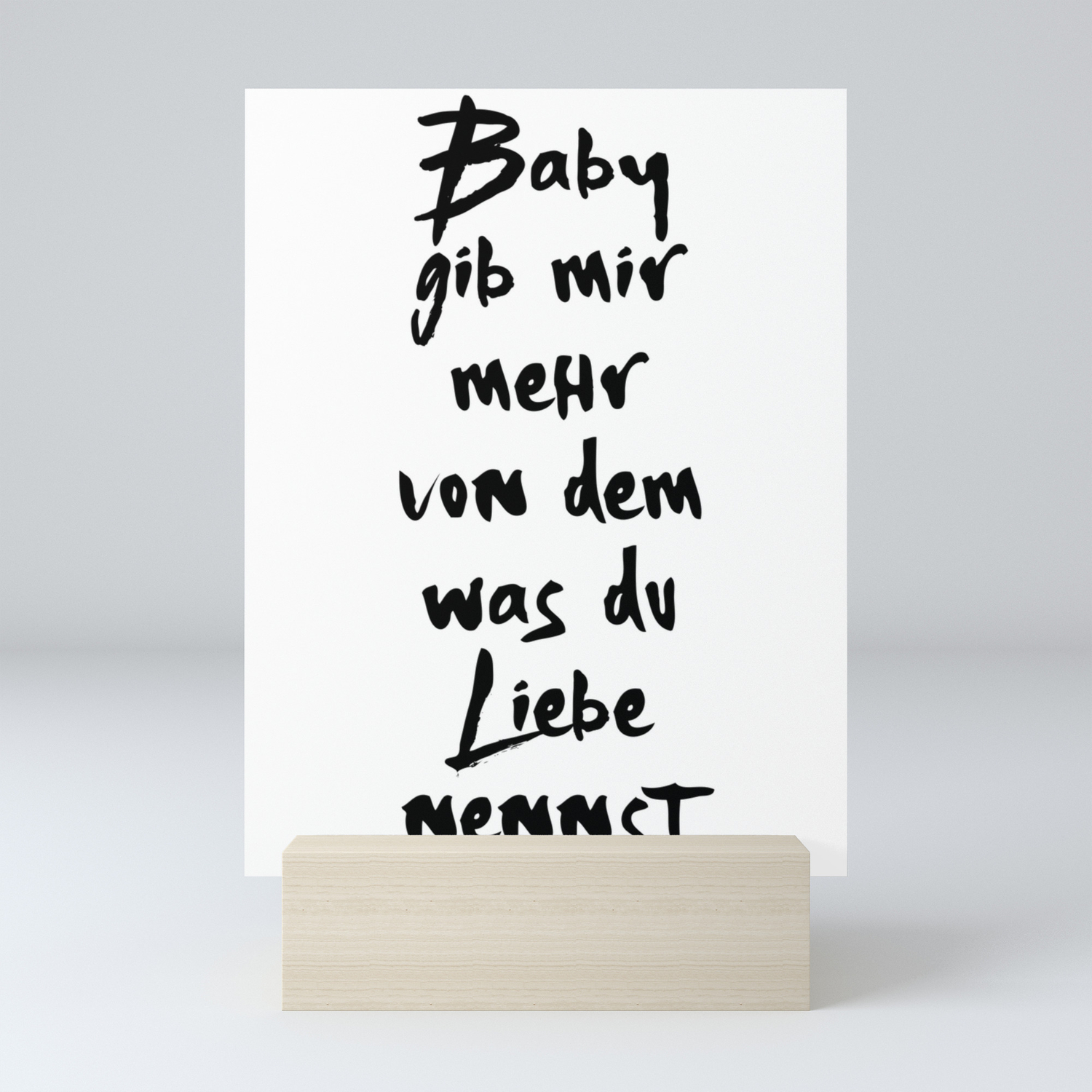 Was Du Liebe Nennst Bausa Musik Lyric Text Mini Art Print By