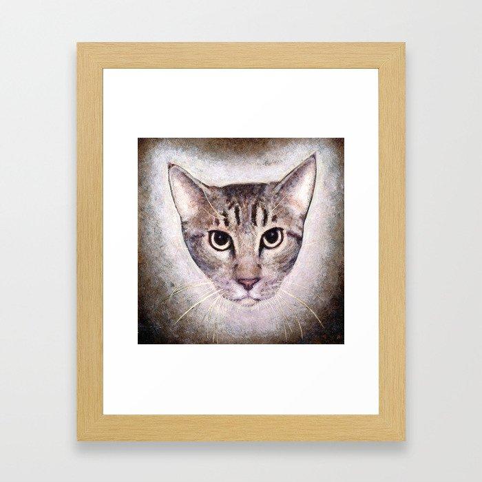 Cat #2 (Sid) Framed Art Print