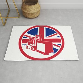 British Logistics Union Jack Flag Icon Rug