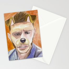 Jensen Ackles, watercolor painting Stationery Cards