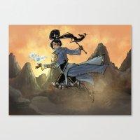 wiz khalifa Canvas Prints featuring Diabolic Wiz by Ammo