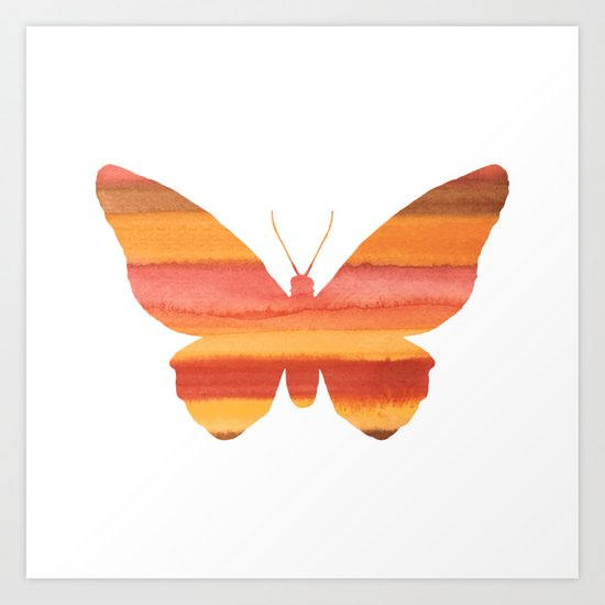 Butterfly color Art Print