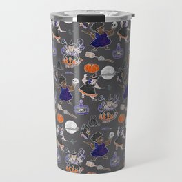 Chubboween Patriarchy Potion Watercolor Pattern Travel Mug