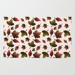 Sparkly leaves fall autumn sparkles pattern Rug