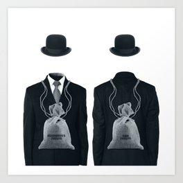 THE TWO BAGS Art Print