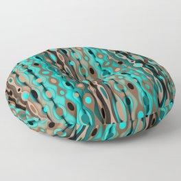 Retro Bohemian Gypsy Beaded Dangles // Vertical Gradient Chocolate Brown, Turquoise, Teal Floor Pillow