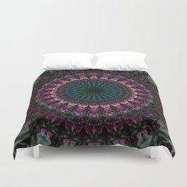 Mandala with fuchsia accents Duvet Cover