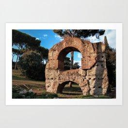 Roman Forum Ruins Art Print