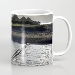 Stepping stones at Three Cliffs Bay Coffee Mug