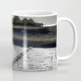 Stepping stones at Three Cliffs Bay Coffee Mug