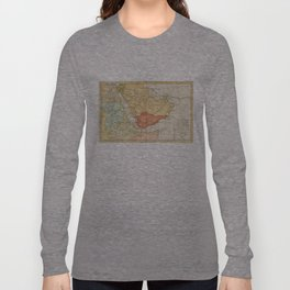 Vintage Map of Saudi Arabia (1780) Long Sleeve T-shirt