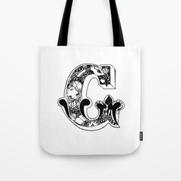 C Alices Alphabet Tote Bag