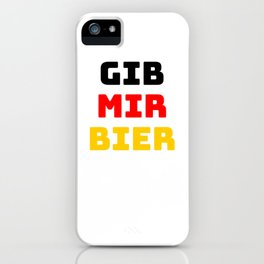 Beer Germany flag holiday gift iPhone Case