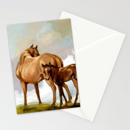 Thoroughbred Mare and Foal Stationery Cards