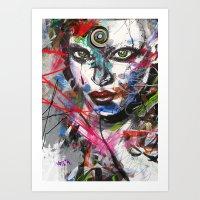 third eye Art Prints featuring third eye by yossikotler