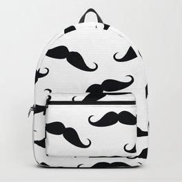 Gentleman mustache pattern Backpack