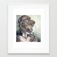 contemporary Framed Art Prints featuring Vulpes Masquerade, now as a print! by Caitlin Hackett