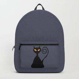 Cunning black cat Backpack