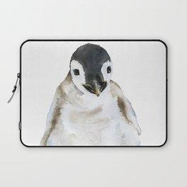 Baby Penguin Watercolor Laptop Sleeve