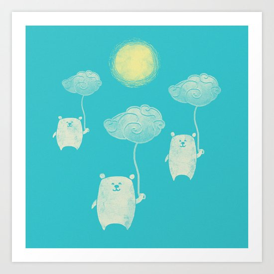 Bears In The Airs Art Print