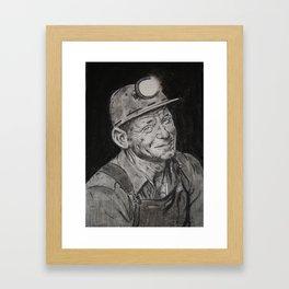 """Normal Rockwell's """"Mine America's Coal""""  Framed Art Print"""