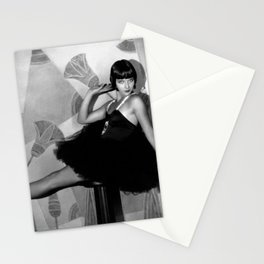 Louise Brooks, Silent Film Hollywood Star, 1927 Jazz Age Flapper black and white photography - photographs wall decor Stationery Cards